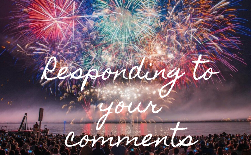 Responding to Comments – Celebrating 20 Videos Published